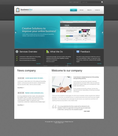 Template Image for HotshowCase  - Website Template