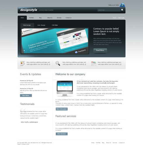 Template Image for DesignStyle - Website Template
