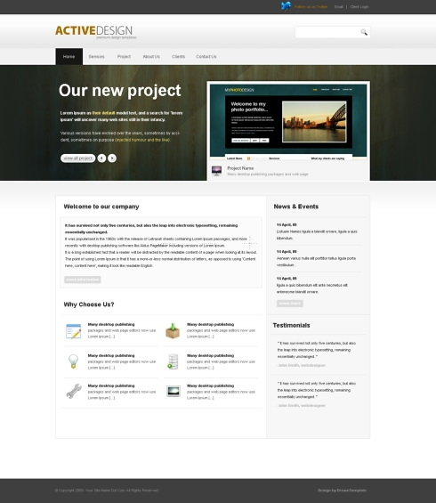 Template Image for ActiveDesign - HTML Template