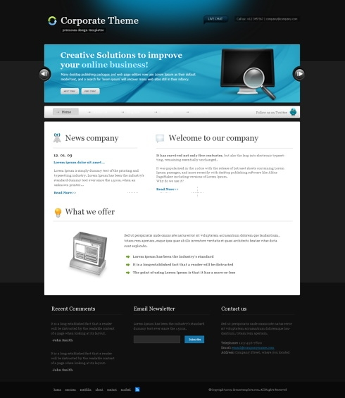 Template Image for BlackSpace - CSS Template
