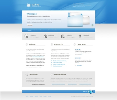 Template Image for CleanBlue - HTML Template