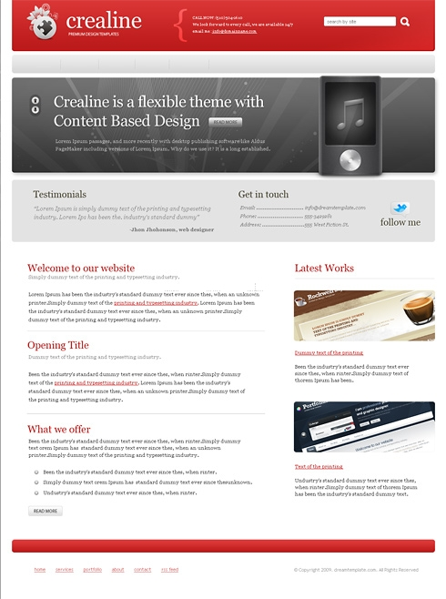 Template Image for Crealine - Website Template