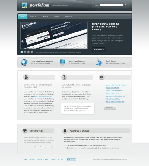 Template Image for Focused - Website Template