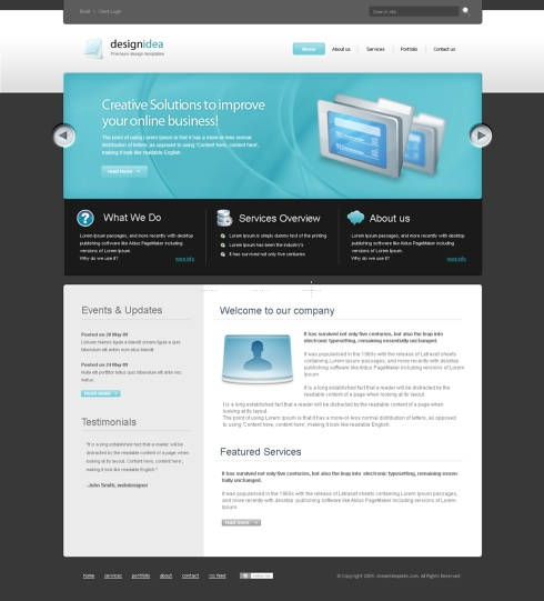 Template Image for FuturesPot - CSS Template