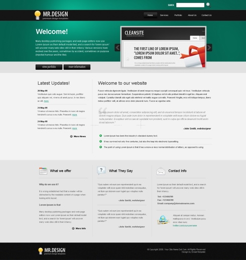 Template Image for MrDesign - HTML Template