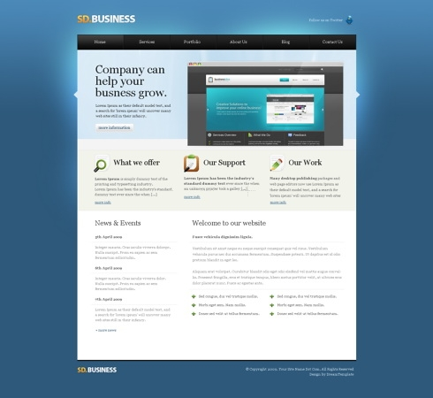 Template Image for SeriousDesign  - HTML Template