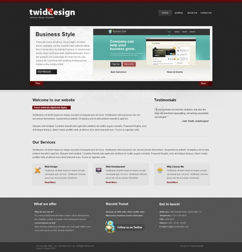 Template Image for TwidDesign - Website Template