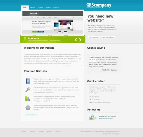 Template Image for OceanBiz - HTML Template