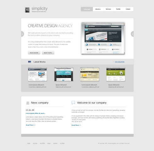 Template Image for Simplicity - Website Template