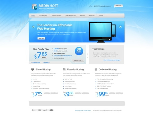 Template Image for Blueisp - HTML Template