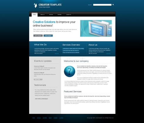 Template Image for CreatorPro - HTML Template