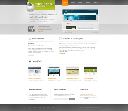 Template Image for Moderno - Website Template