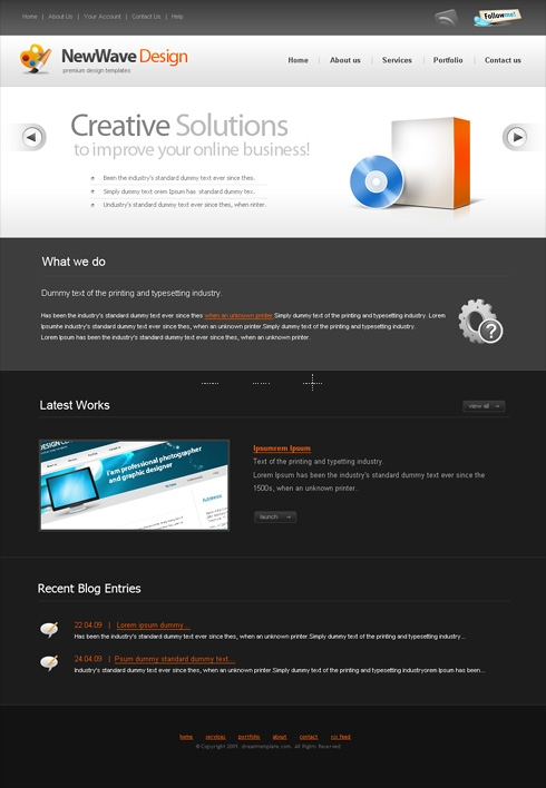 Template Image for Newwave - Website Template
