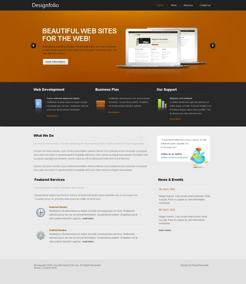 Template Image for Ojmix - Website Template