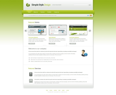 Template Image for SimpleStyle - HTML Template