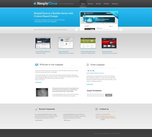 Template Image for SimplyClean - HTML Template