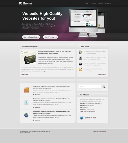 Template Image for Hqtheme - HTML Template