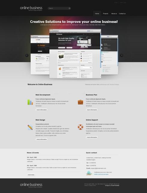 Template Image for CorporateMagic - Website Template