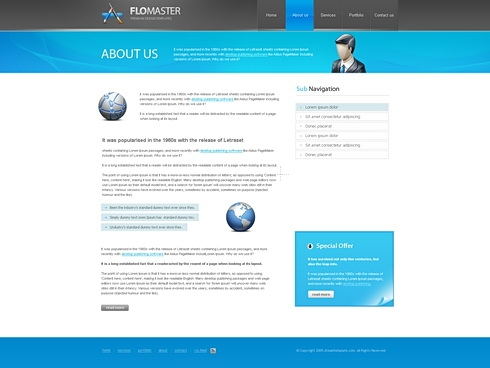 Template Image for Flomaster - Website Template