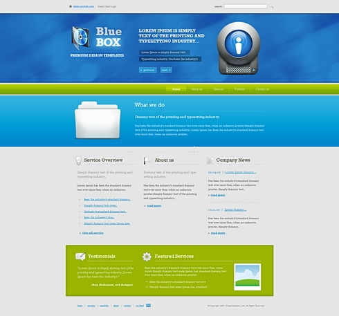 Template Image for BlueBox - Website Template