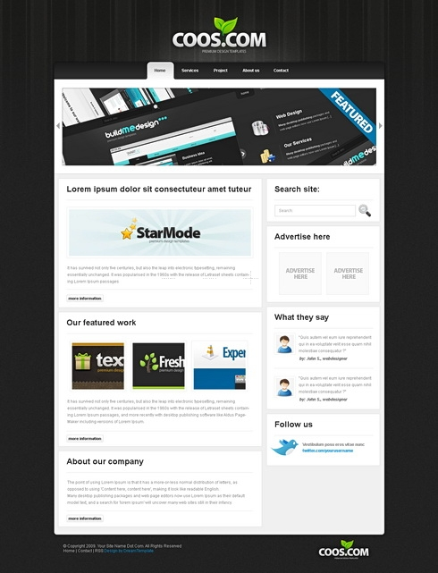 Template Image for BlackBox - HTML Template