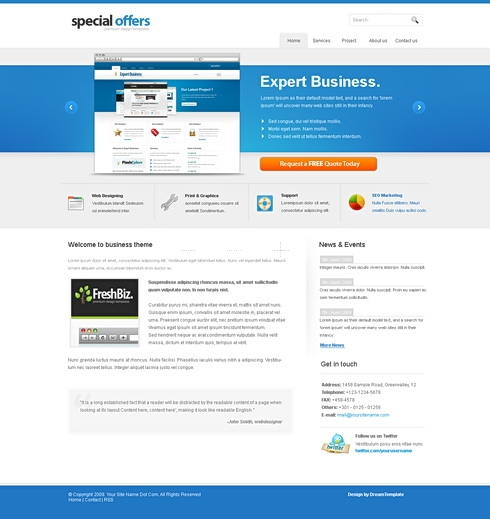 Template Image for Blueinc - Website Template