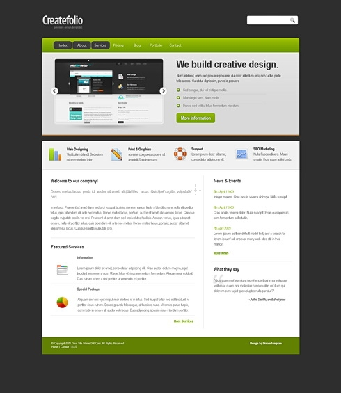 Template Image for CreateFolio - Website Template