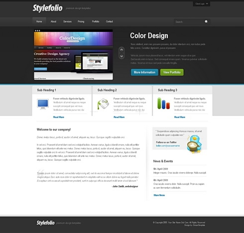 Template Image for StyleFolio - HTML Template