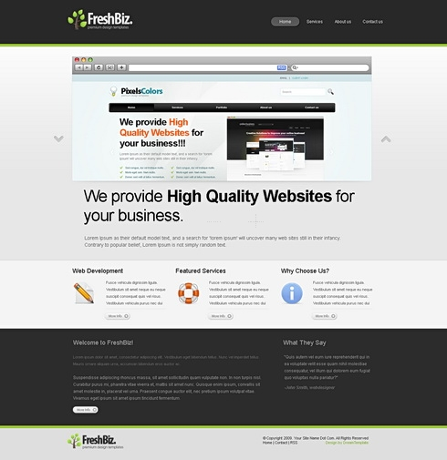 Template Image for FreshBiz - Website Template