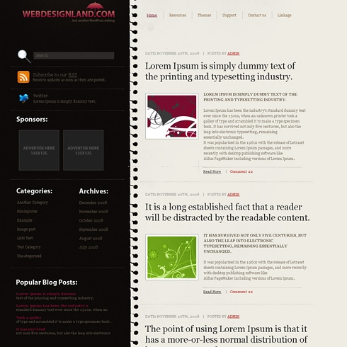 Template Image for NoteBlog - WordPress Theme