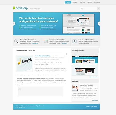 Template Image for StartCorp -  Website Template