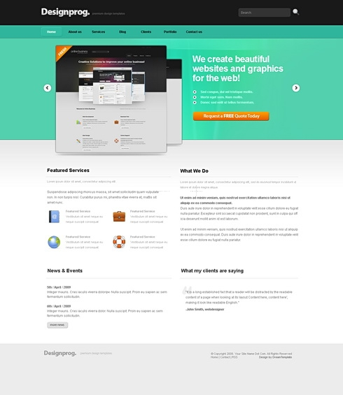 Template Image for DesignProg - HTML Template