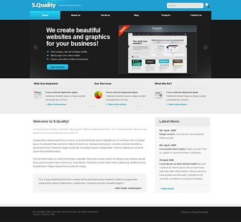 Template Image for Superq - HTML Template