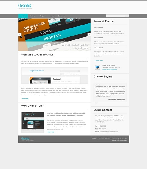 Template Image for CleanBiz - HTML Template
