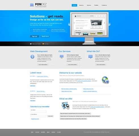Template Image for Fondez - Website Template