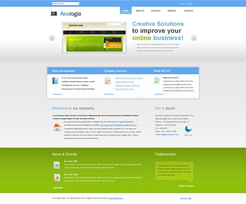 Template Image for Analogia - HTML Template