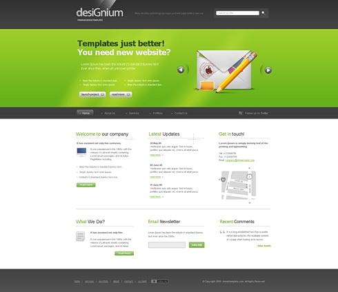 Template Image for Designium - CSS Template