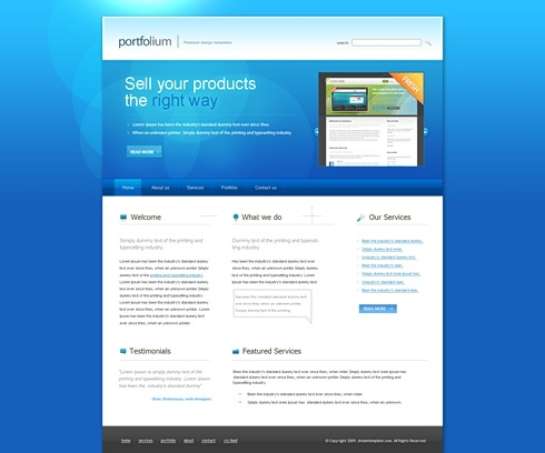 Template Image for BlueSpot - Website Template