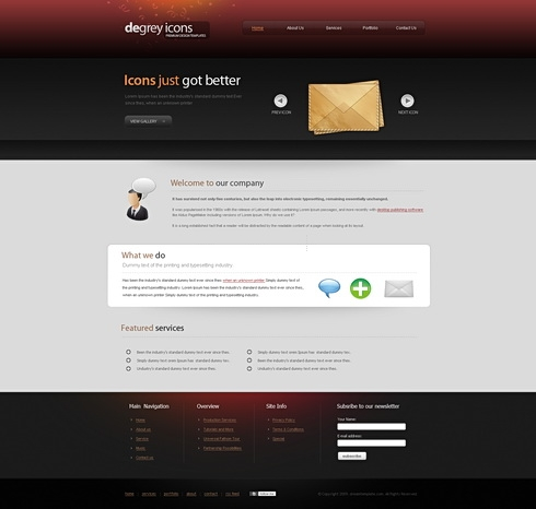 Template Image for Degrey - Website Template