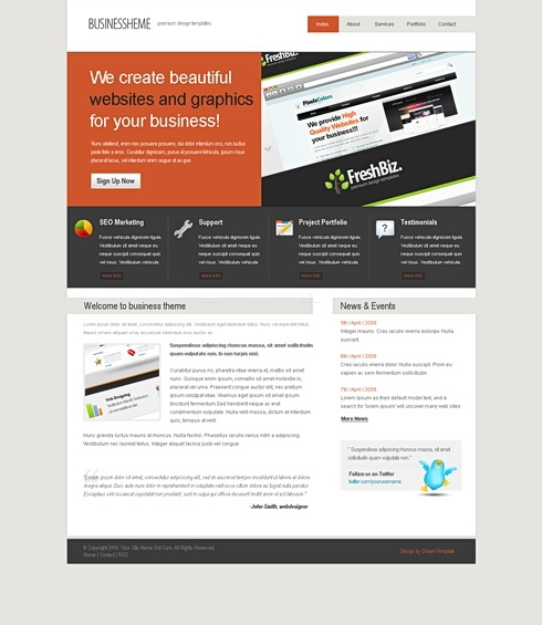 Template Image for Compactlines - HTML Template