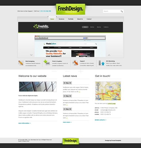 Template Image for FreshDesign - Website Template