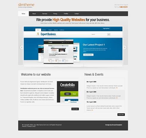 Template Image for SlimTheme - HTML Template