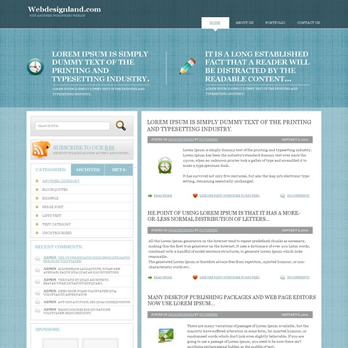 Template Image for CrossPatterns - WordPress Theme