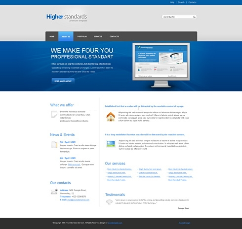Template Image for HighStandard - HTML Template