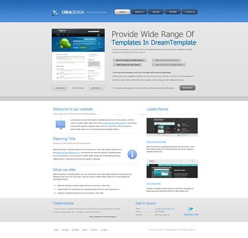 Template Image for CreaDesign - Website Template