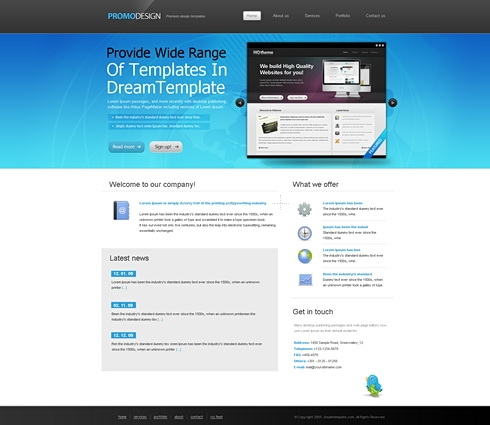 Template Image for PromoDesign - HTML Template