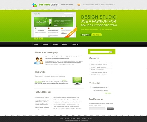 Template Image for WebItems - HTML Template