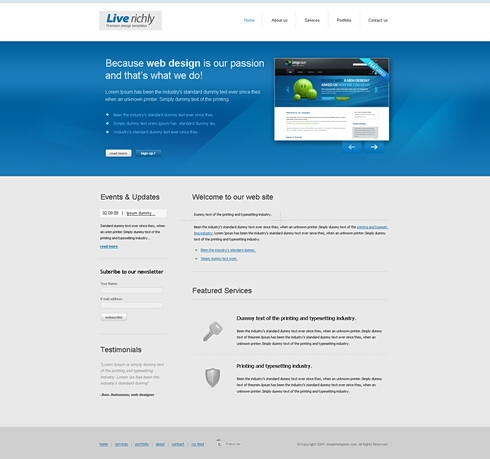 Template Image for VividBlue - HTML Template