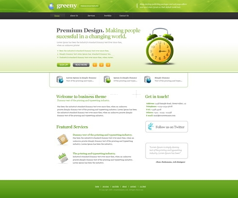 Template Image for Greeny - Website Template
