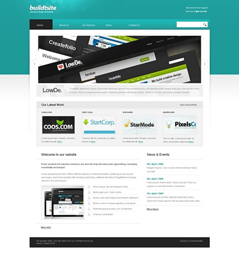 Template Image for AquaBiz - HTML Template